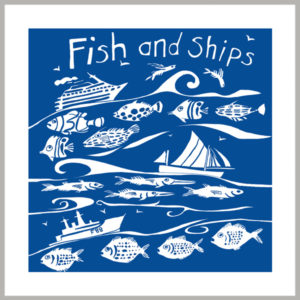 fish and ships greetings card by tracy evans for port and lemon