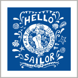 hello sailor greetings card by kate cooke for port and lemon