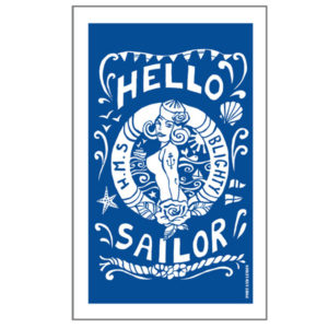 hello sailor tea towel by port and lemon