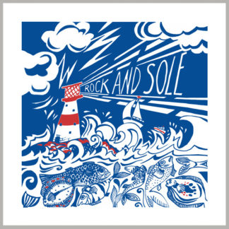 rock and sole greetings card by kate cooke for port and lemon