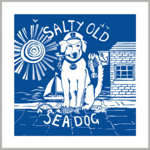 salty old sea dog greetings card by kate cooke for port and lemon