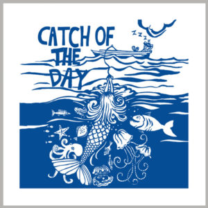 catch of the day greetings card by kate cooke for port and lemon