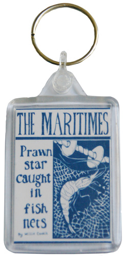 prawn star key ring