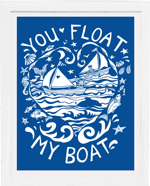 Art Print - You Float my Boat