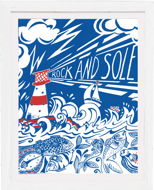 art print rock and sole by kate cooke for port and lemon