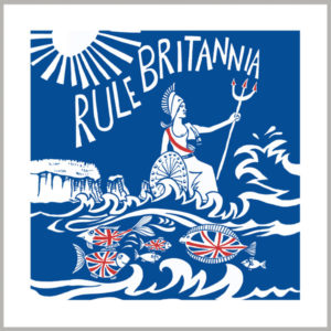 rule britannia greetings card by kate cooke for port and lemon