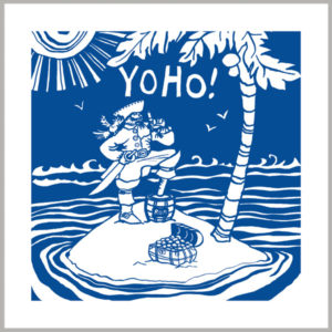 yo ho greetings card by kate cooke for port and lemon