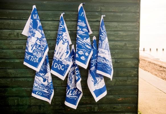 Screen printed tea towels beautifully made in Britain