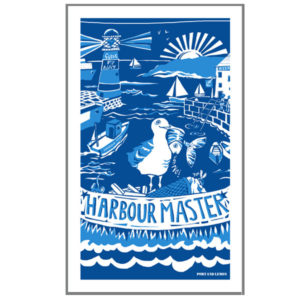 harbour master tea towel by port and lemon