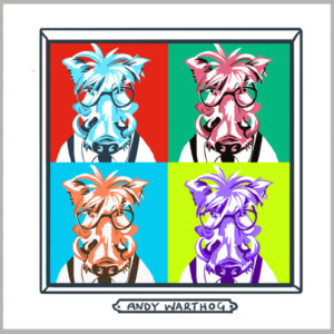 andy warthog greetings card by tracy evans for port and lemon