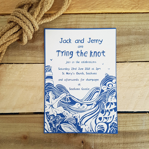 sample wedding invitation bundle tying the knot port lemon